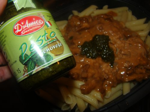Pesto Nudelauflauf