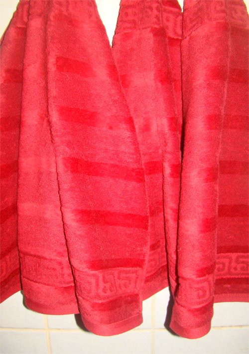 rote Handtücher