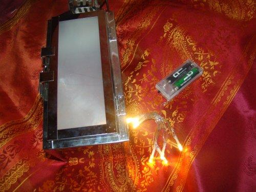 Laterne WICHITA mit LED Lichterkette