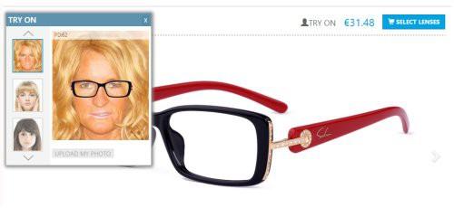 Brillengestell mit eigenen Foto