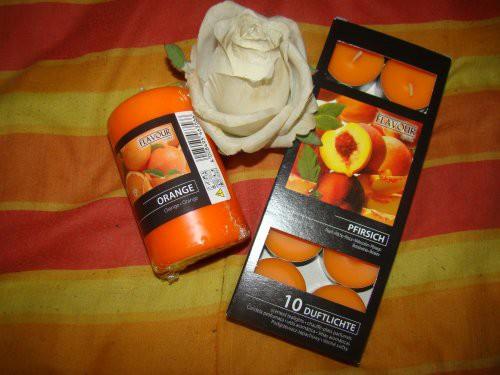 Teelichter Pfirsich