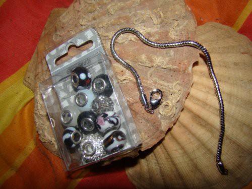 Großlochperlen und Armband