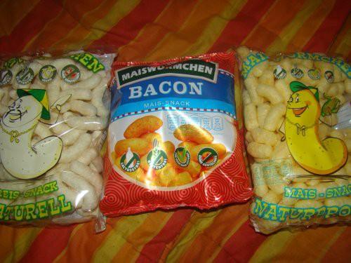 Maiswürmchen Bacon und Naturell