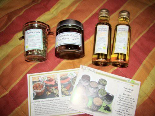Bio Olivenöl Trockenpesto Oliven