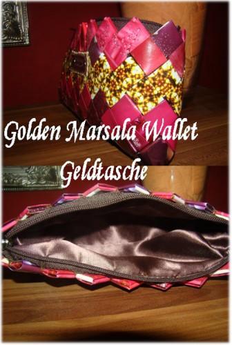 Golden Marsala Wallet Geldtasche